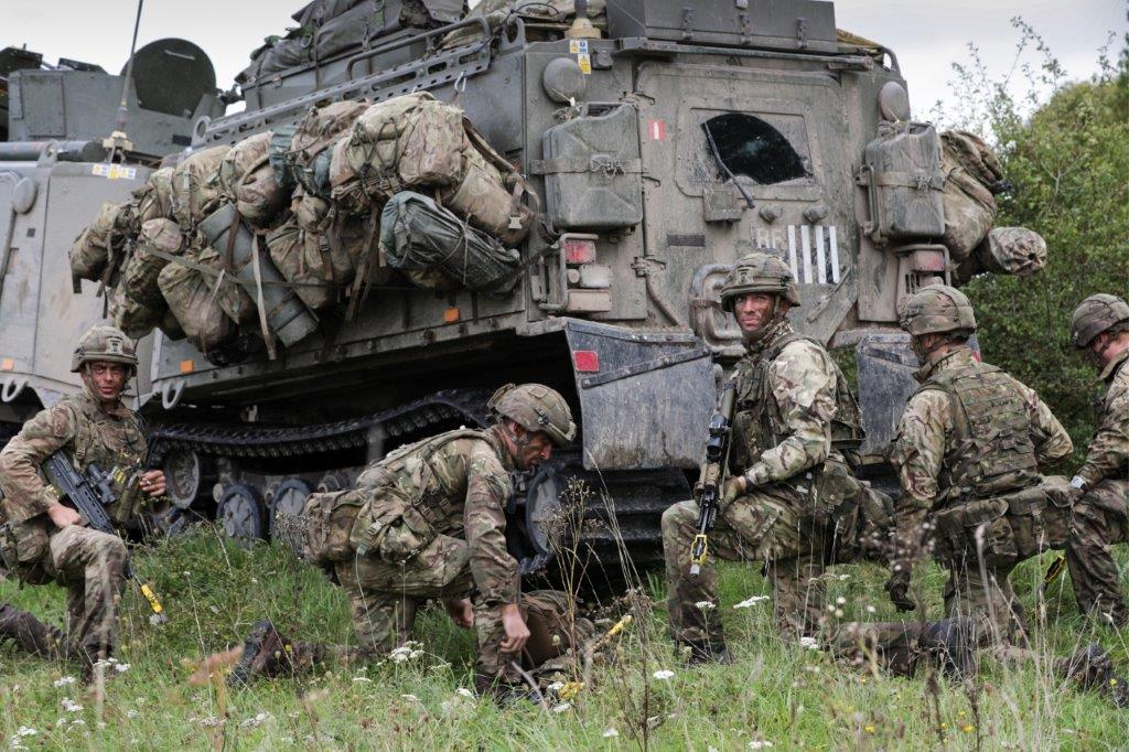 Royal Marines Unleash Heavy Weapons During Salisbury Plain Battle