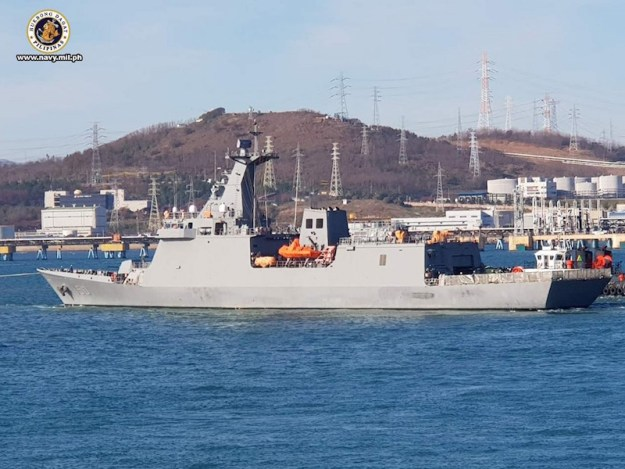 The first of two missile frigates built for the Philippines Navy by Hyundai Heavy Industries, the BRP Jose Rizal, has begun her builder's sea trials in South Korean waters.
