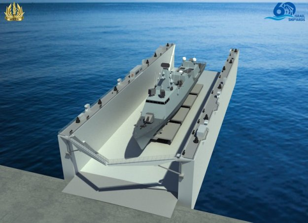 Israel MoD Orders Israel Shipyards' Floating Dock for the Israeli Navy
