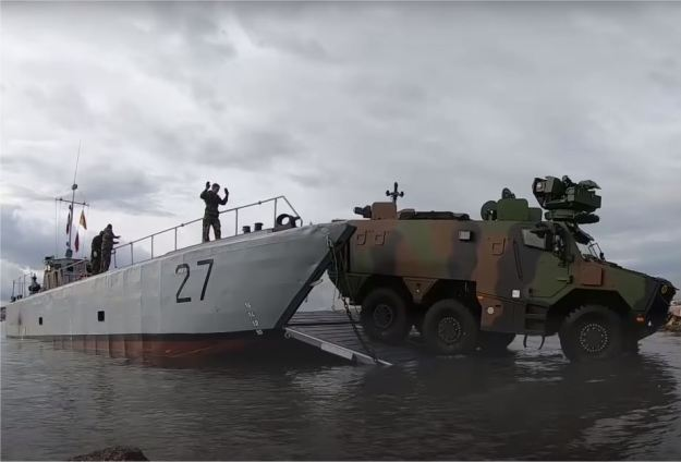 French Test Griffon Armored Vehicles for Amphibious Qualification Testing