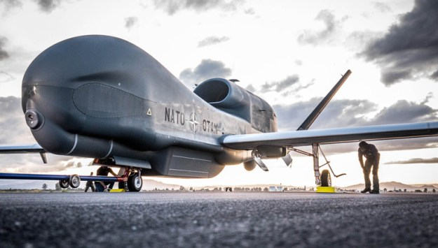 First NATO Alliance Ground Surveillance (AGS) aircraft lands in Sigonella, Italy on Thursday (21 November 2019)