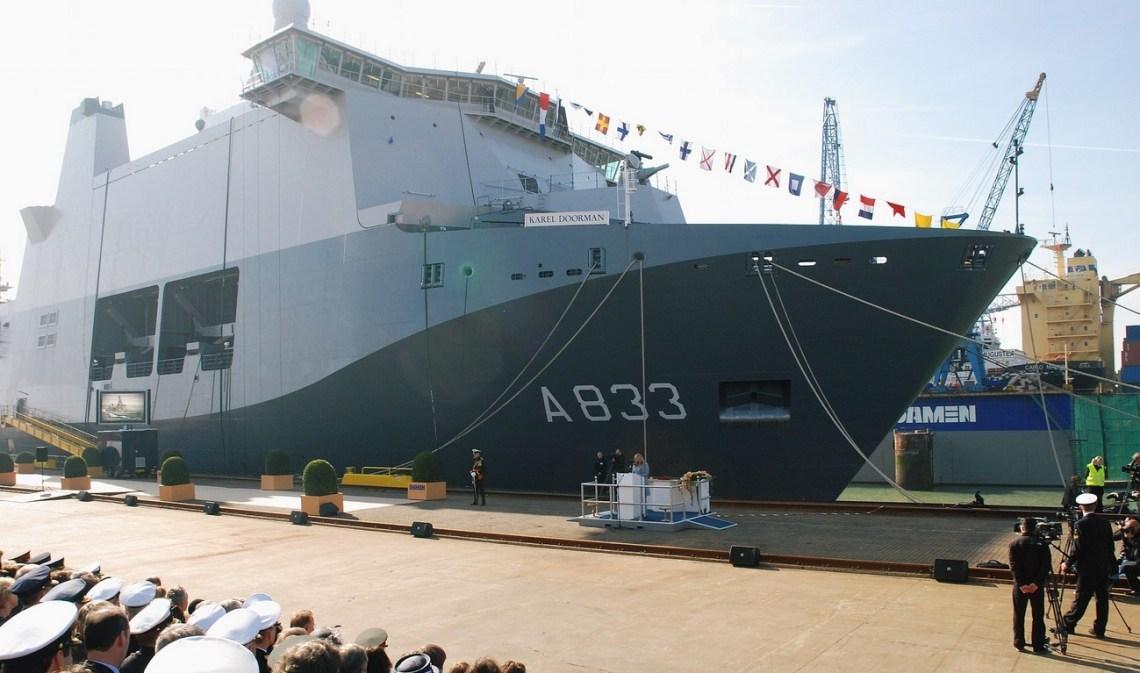 Joint Support Ship Royal Netherlands Navy HNLM Karel Doorman