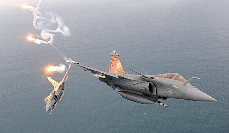 French Naval Aviation squadron Flotille 11F Rafale M F3-R Carrier-Borne Multirole Fighter Aircraft