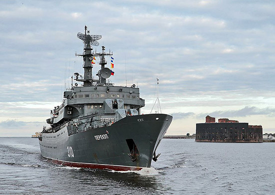 Baltic Fleet training ship Perekop enters the Mediterranean Sea