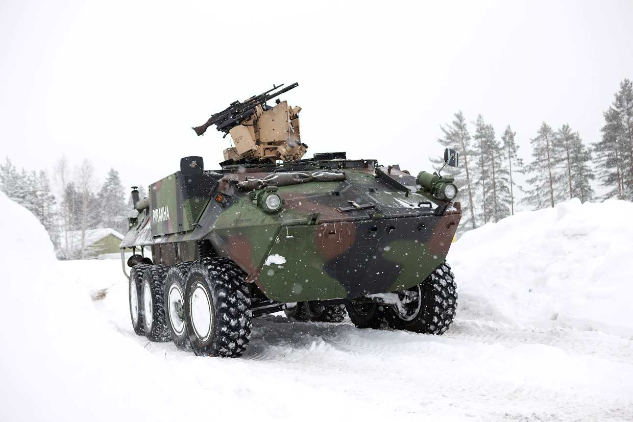 The KONGSBERG PROTECTOR Remote Weapon Station will be integrated on Piranha V 8x8 vehicles