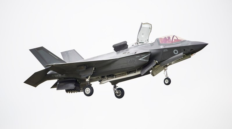 Pictured is the first of the UK's F-35B Lightning II jets to be flown to the UK. Imagery from the Royal International Air Tattoo 2016, held at RAF Fairford. Accompanied by two United States Marine Corps F-35B aircraft from their training base at Beaufort, South Carolina.