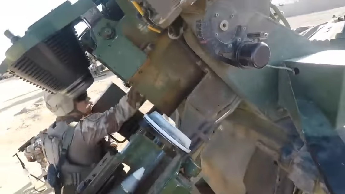 French Artillery Engage ISIS with CAESAR 155mm Self Propelled Howitzers