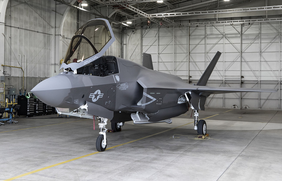 An F-35B for the United States Marine Corps at Lockheed Martin's production facility in Fort Worth, Texas – the 134th F-35 delivered in 2019.