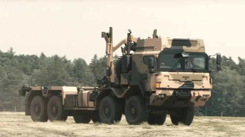 With 90 undelivered HX81 trucks left in limbo by Berlin's sudden freeze on military equipment deliveries to Saudi Arabia, Rheinmetall sued and this week an administrative court in Frankfurt overturned the ban. (Rheinmetall photo)