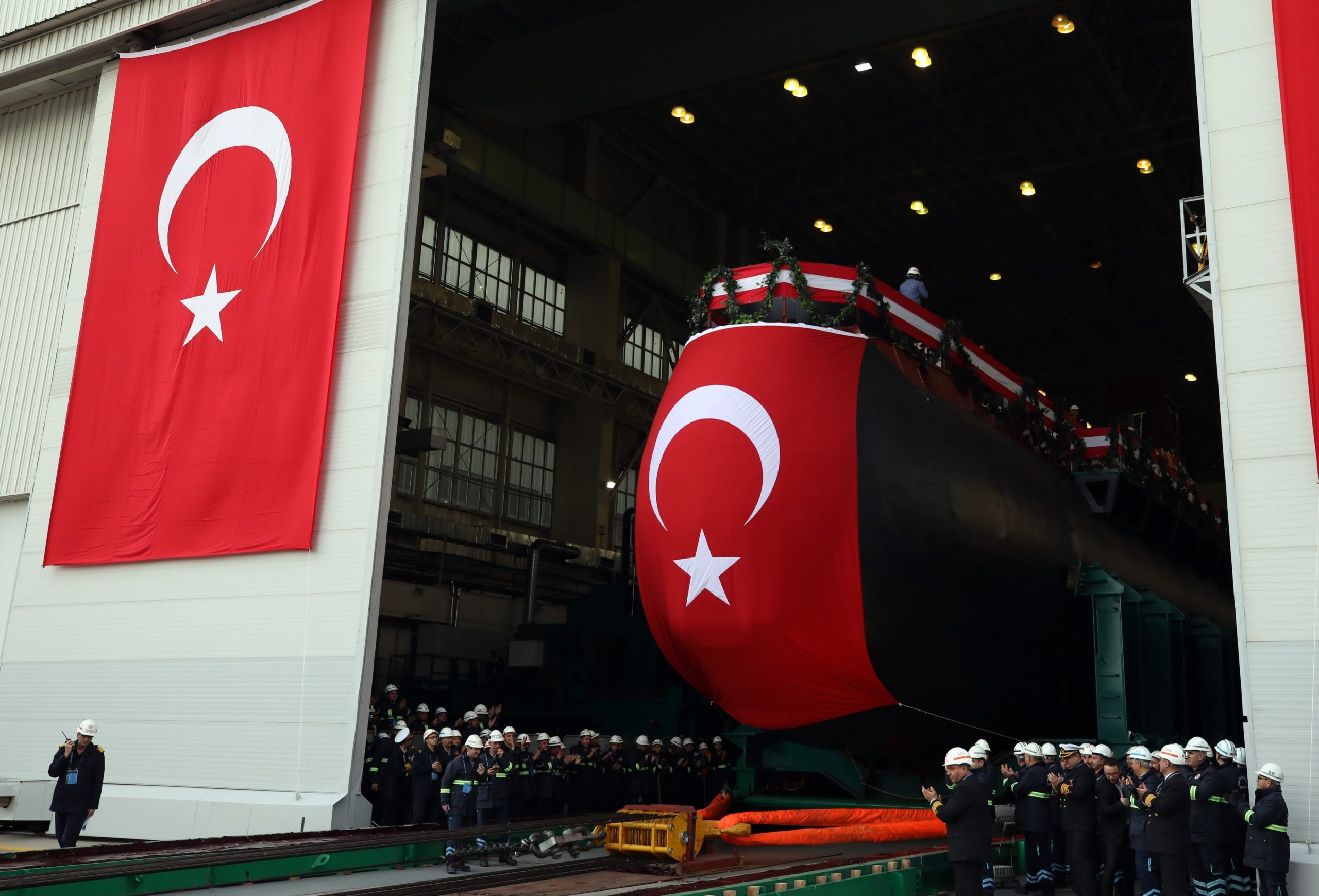 Turkish First National Submarine Launched