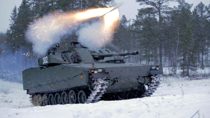 CV90 Fires SPIKE LR Anti-Tank Guided Missile in Lethality Test