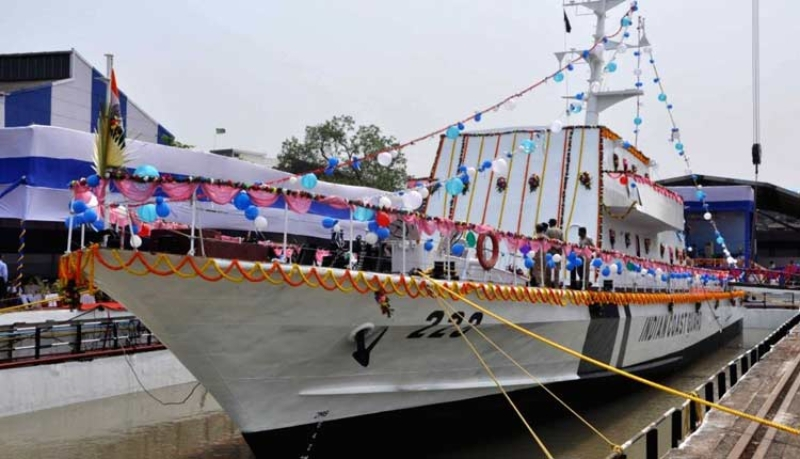 Kolkata-based Garden Reach Shipbuilders and Engineers (GRSE) Priyadarshini-class fast patrol vessels (FPVs)
