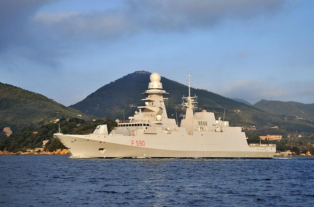 Italian first FREMM multipurpose frigate Carlo Bergamini