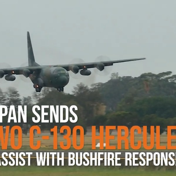 Japan Air Self-Defense Force (JASDF) C-130s transport planes