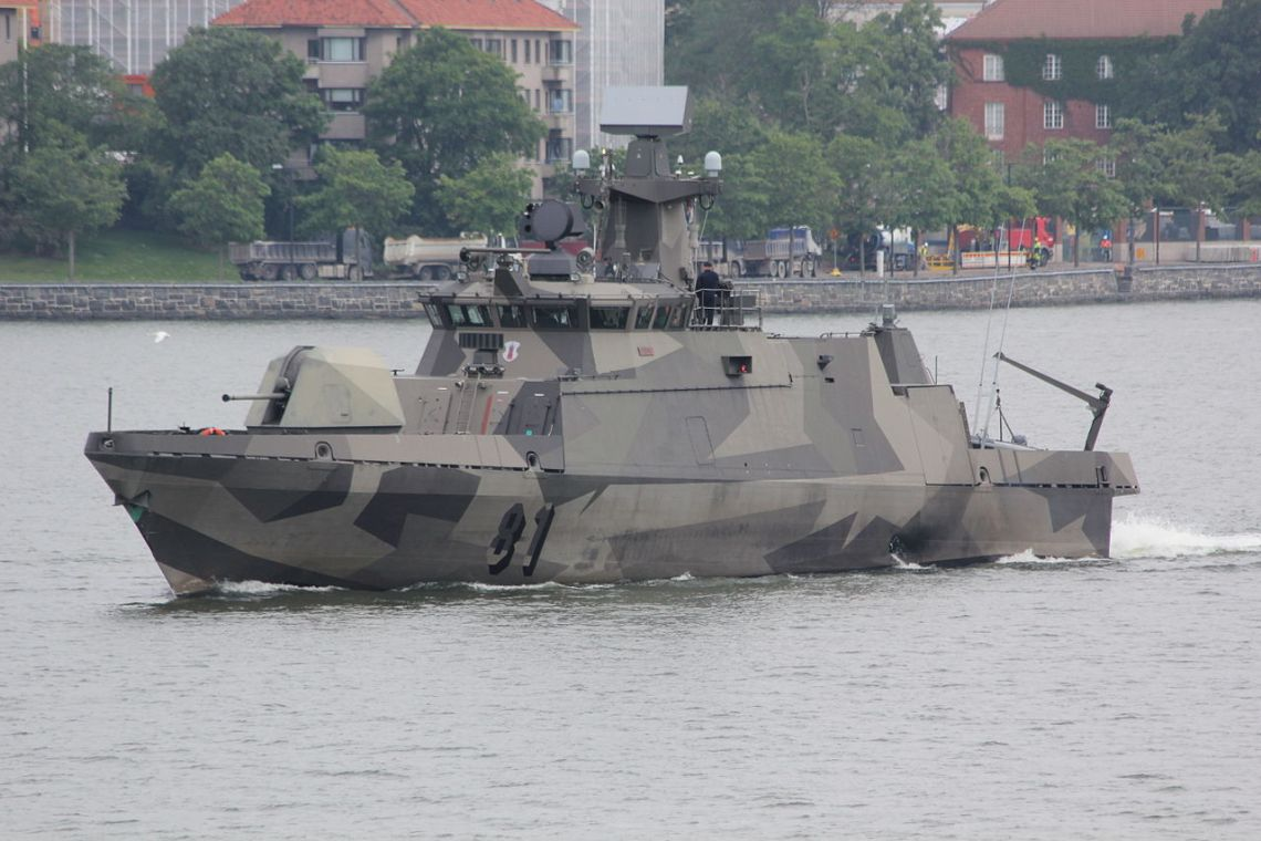 Finnish Navy FNS Tornio (Pennant number 81) Hamina-class missile boat