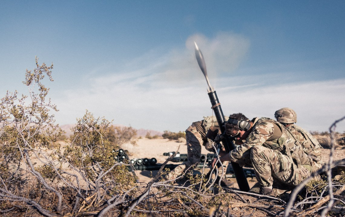 40 Commando train in California on Ex Green Dagger 2019
