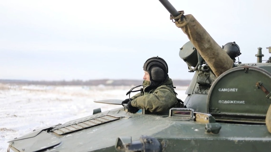 Russian Airborne Troops BMD-2 Live Fire Exercise