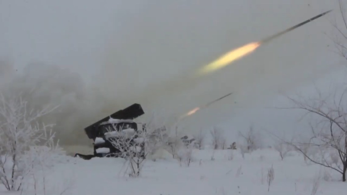 Russian Grad multiple launch rocket systems (MRLS)