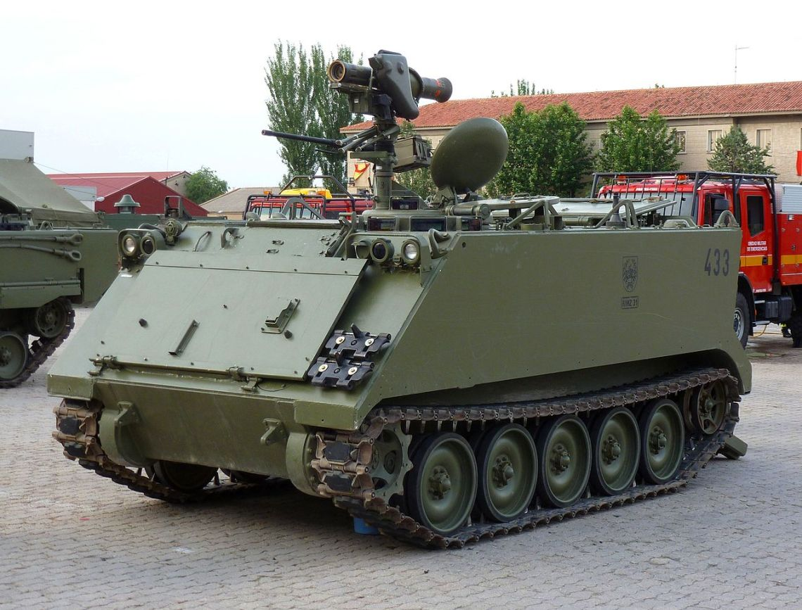 Spanish Army M113 A2 TOA Milan Misil Contracarro (MCC)