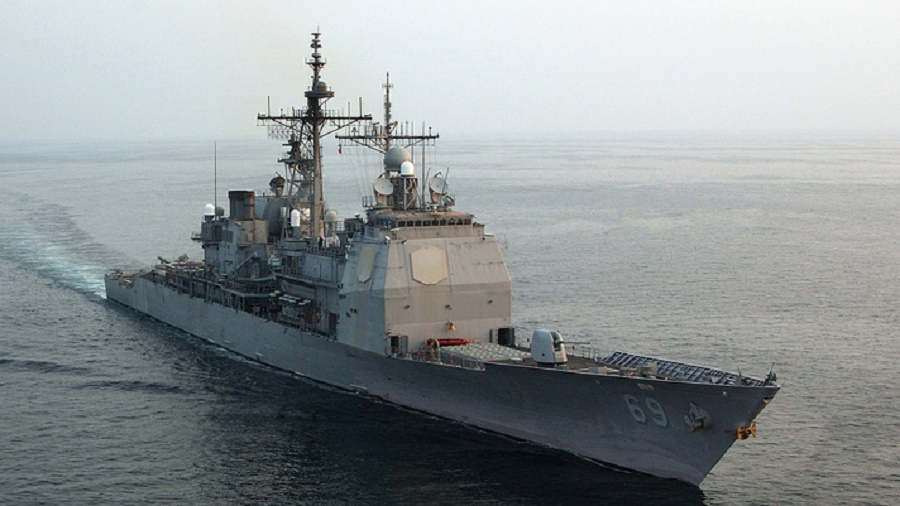 U.S Navy guided missile cruiser USS Vicksburg (CG 69)
