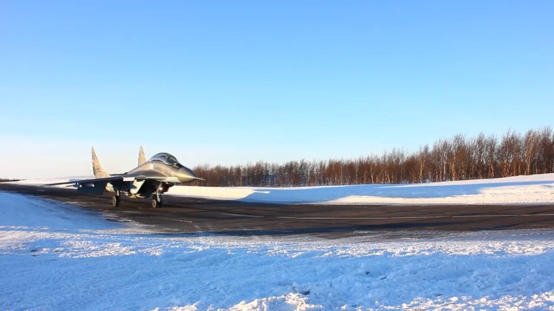 Russian Navy 100th Independent Shipborne Fighter Aviation Regiment Mikoyan MiG-29K/KUB Carrier-Based Fighter