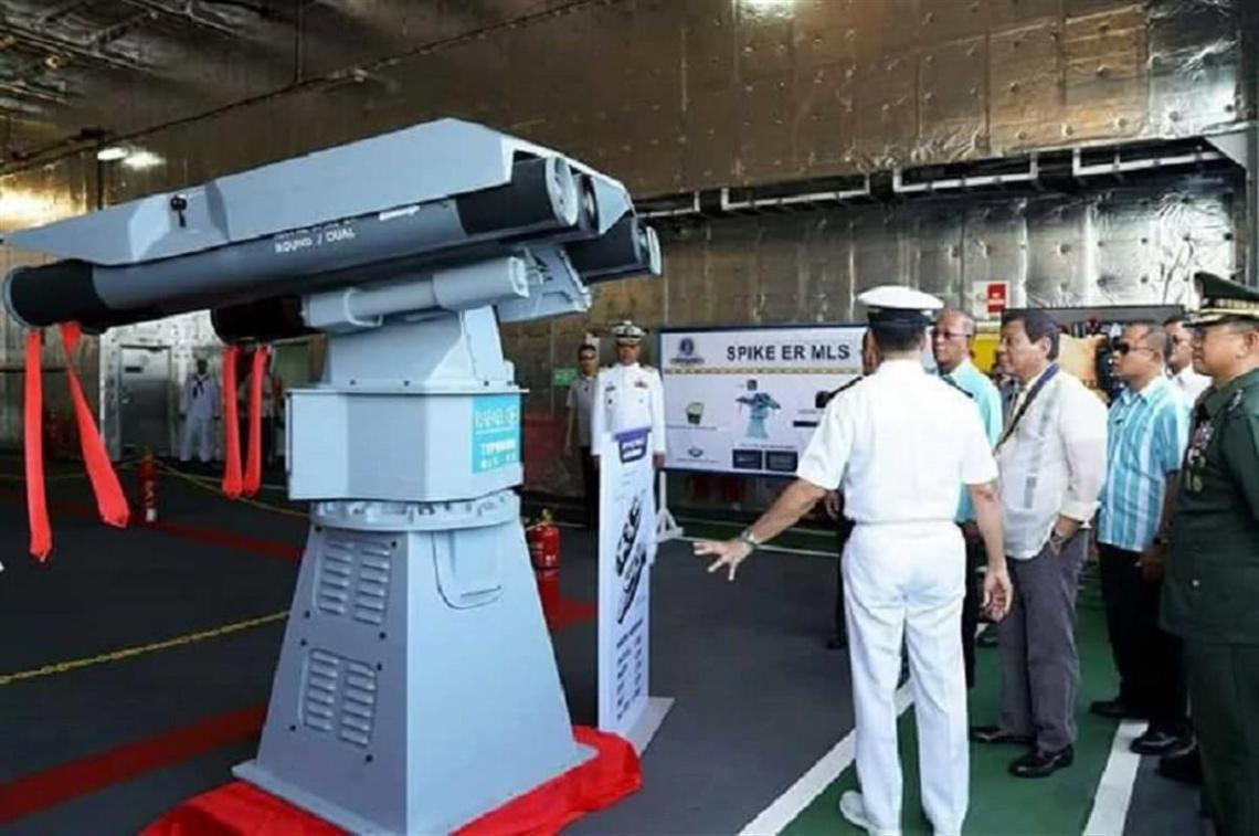 Philippine Navy Multipurpose Attack Craft fitted with Spike-ER Missiles