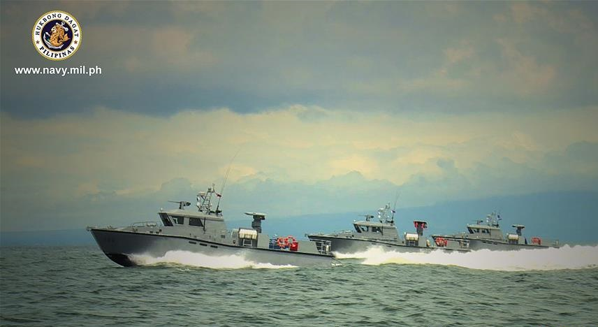 3 Philippine Navy Multipurpose Attack Craft fitted with Spike-ER Missiles