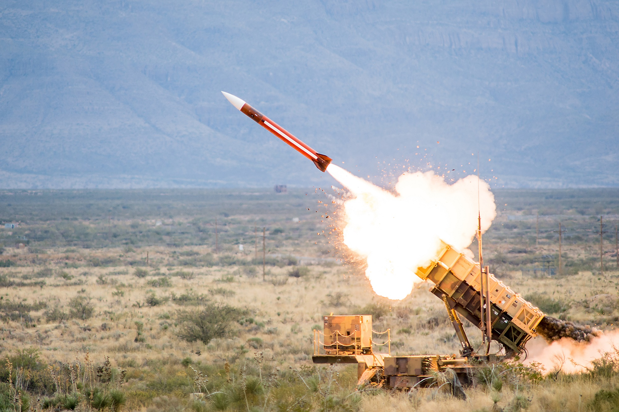 Patriot missile-defense battery