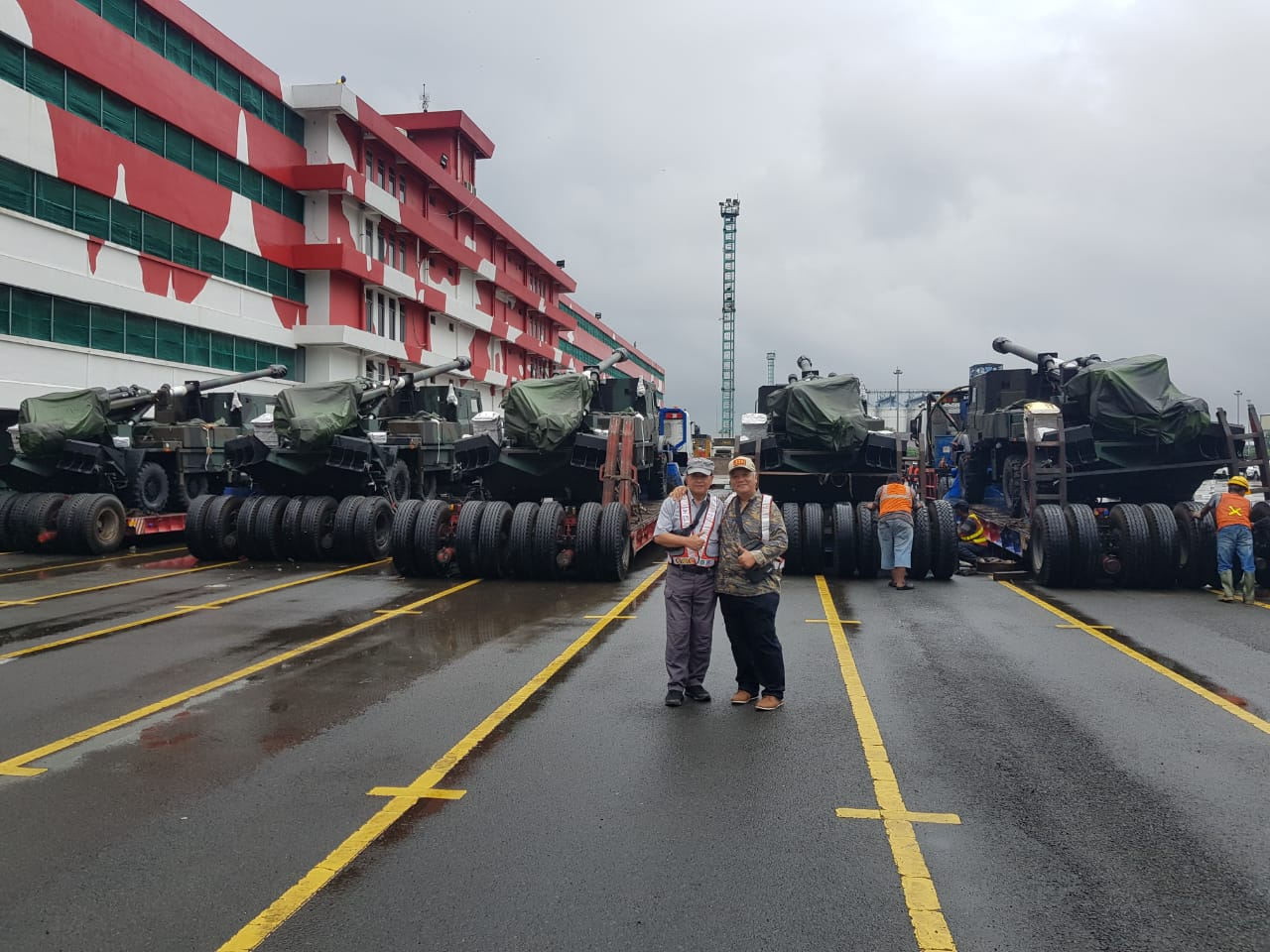 Indonesian Army Receives 12 Nexter CAESAR Self-Propelled Howitzers (Photo IMF)