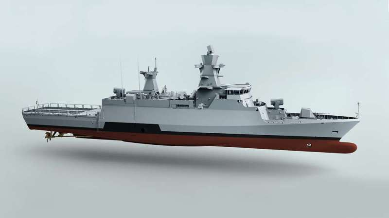 A rendering of the German Navy's second batch of K130 corvettes; ships of the original batch already in service will be brought up to the same standard as they go though scheduled maintenance periods.