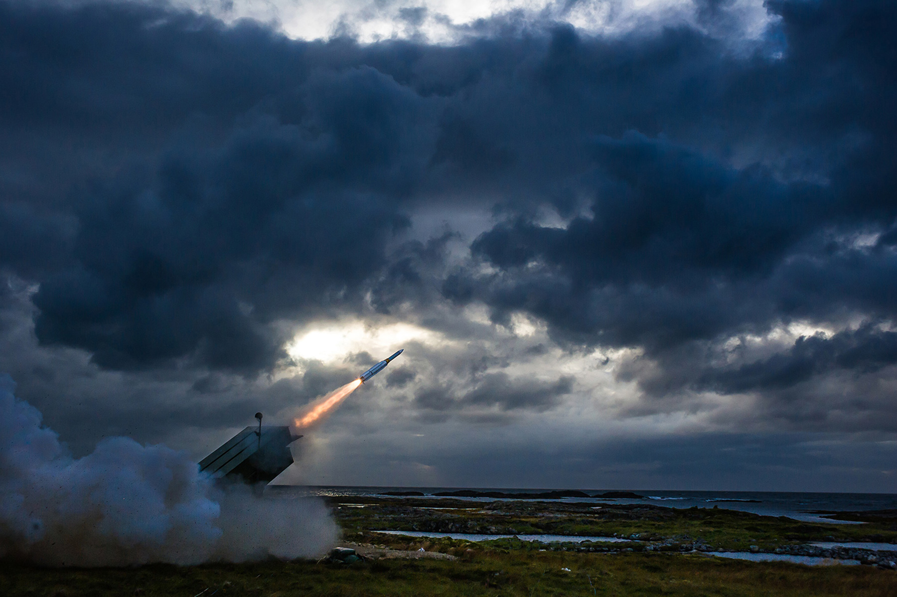 NASAMS is a distributed and networked medium to long range air-defence system.
