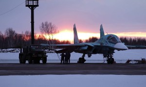 Sukhoi Su-34 Fullback Russian all-weather supersonic medium-range fighter-bomber/strike aircraft