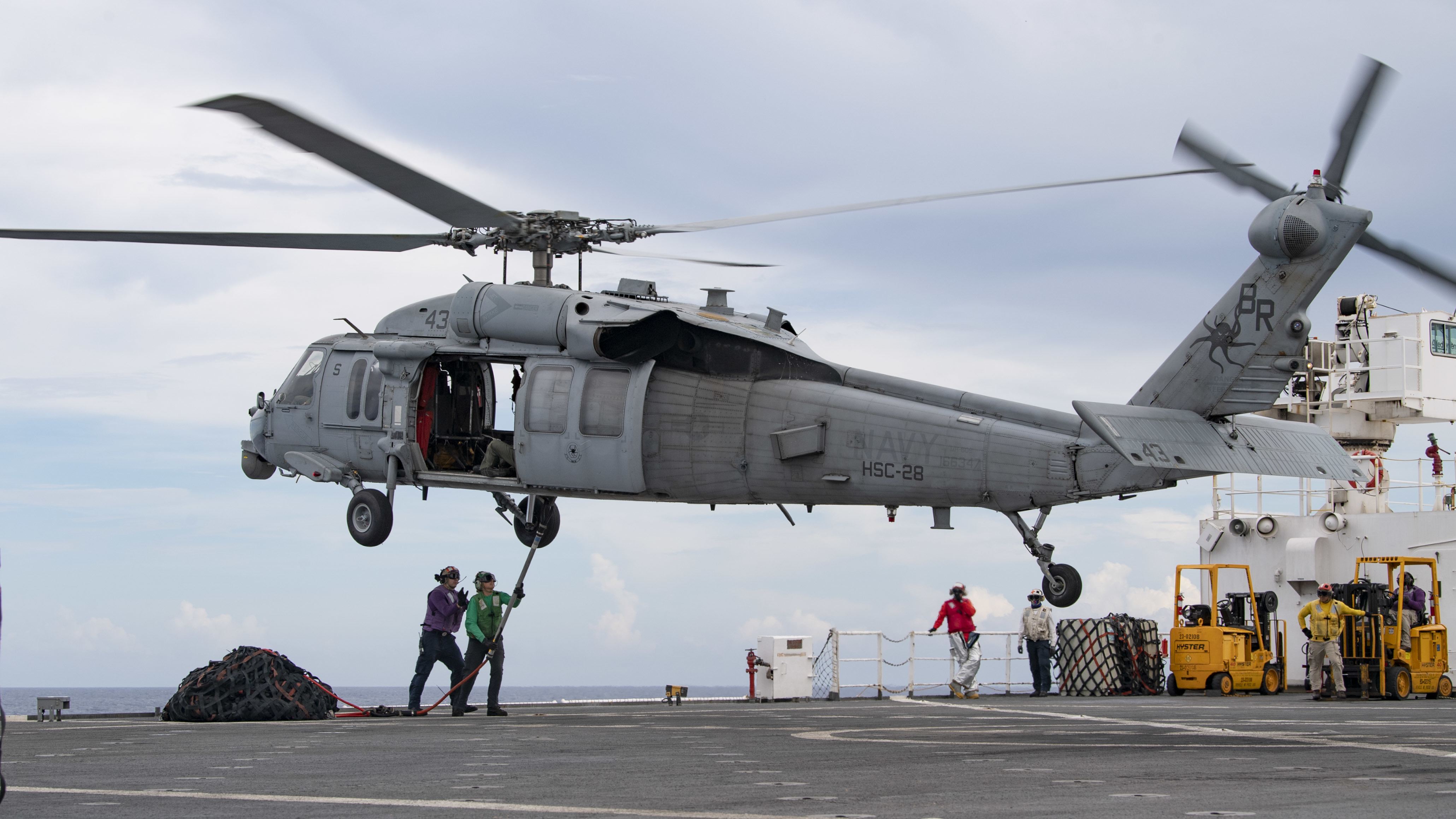 MH-60S Seahawk assigned to the Dragon Whales of Helicopter Sea Combat Squadron 28