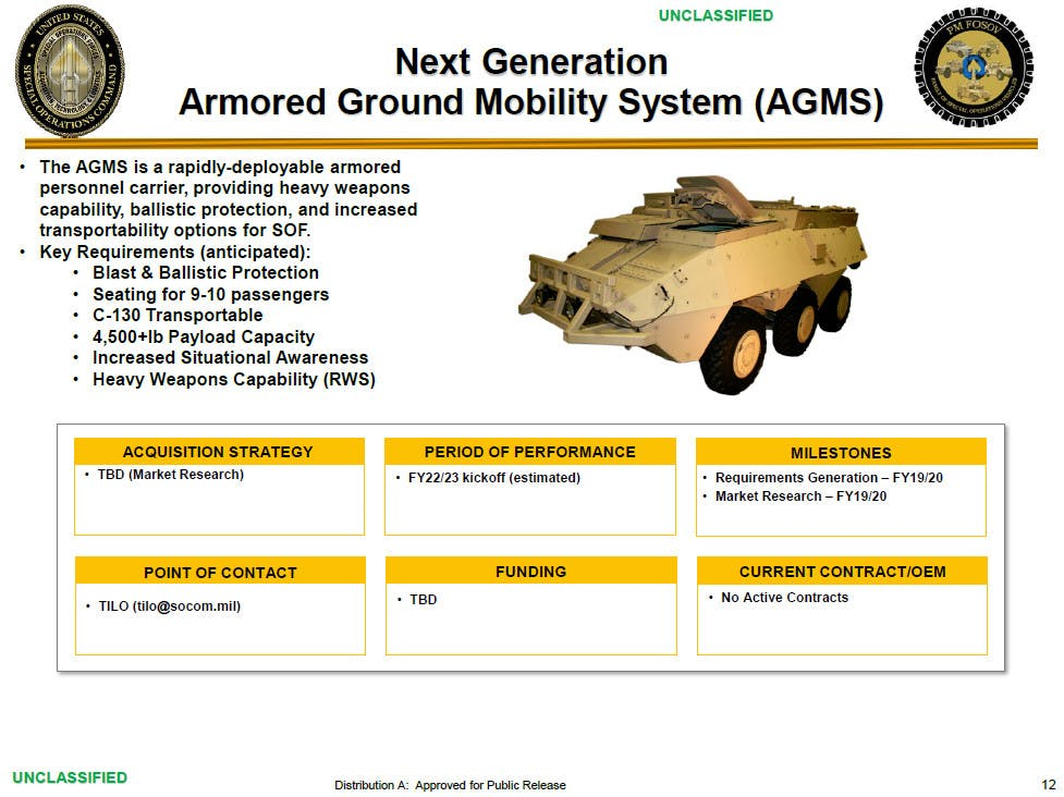 New Generation Armored Ground Mobility System (AGMS)