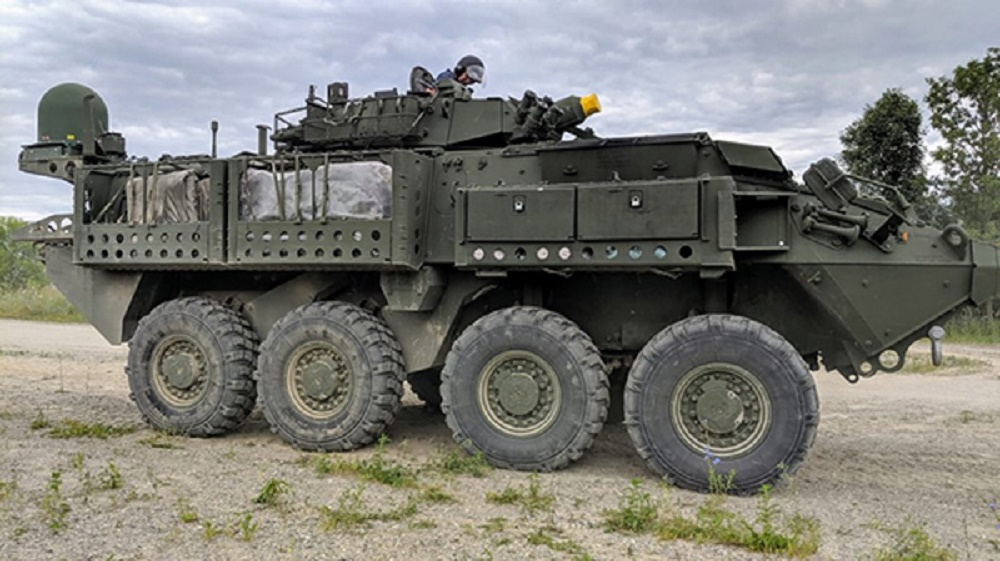 Elbit Systems ELSAT-2100 on board Canadian LAV6
