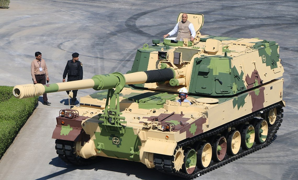 K9-VAJRA-T is an Indian variant of the  South Korean K9 self-propelled 155 mm howitzer. Manufactured by Larsen & Toubro under license, consisting 50% component (by value) including 14 major sub-systems developed by Indian companies.