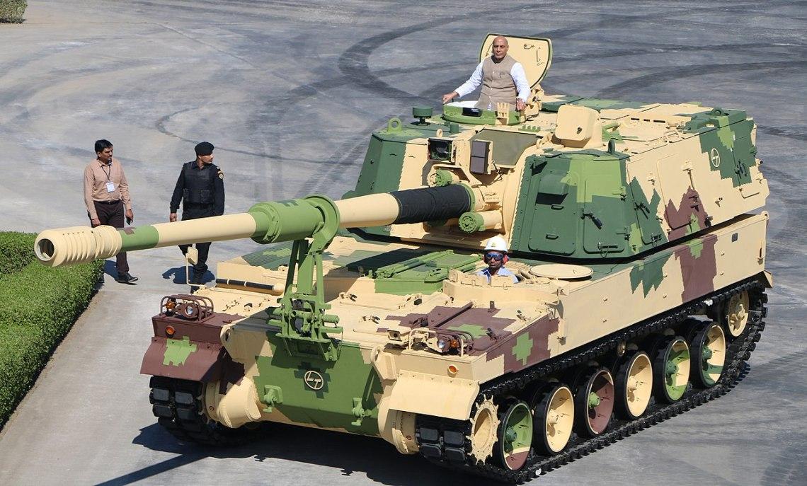 Indian K9-VAJRA-T Self-Propelled Howitzer