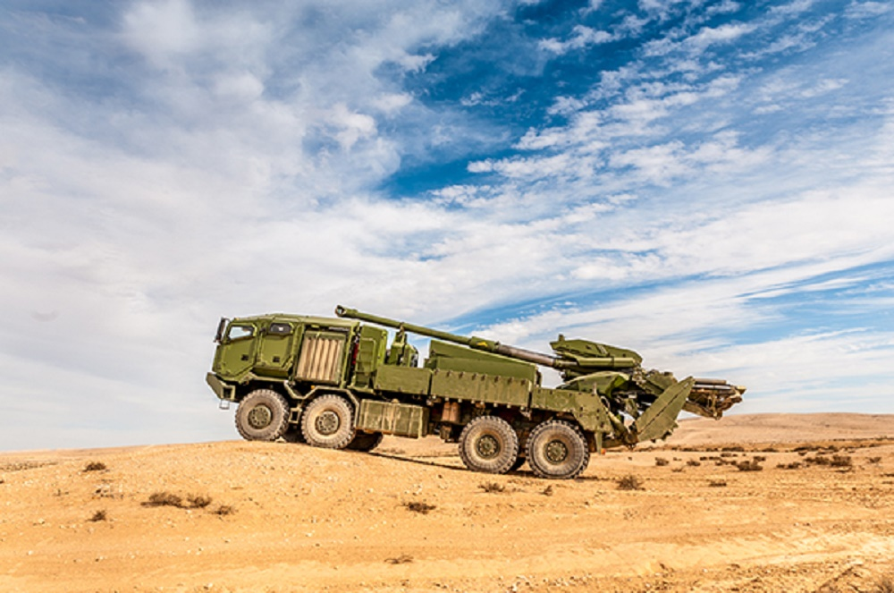 Elbit Systems ATMOS and ATHOS 155mm/52 caliber truck-mounted howitzer
