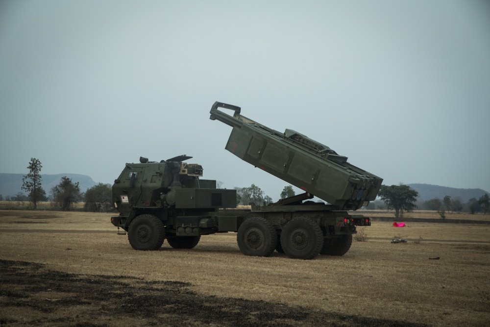 U.S. Marine Corps HIMARS Soars Over Thailand in Bilateral Quick Fire Mission