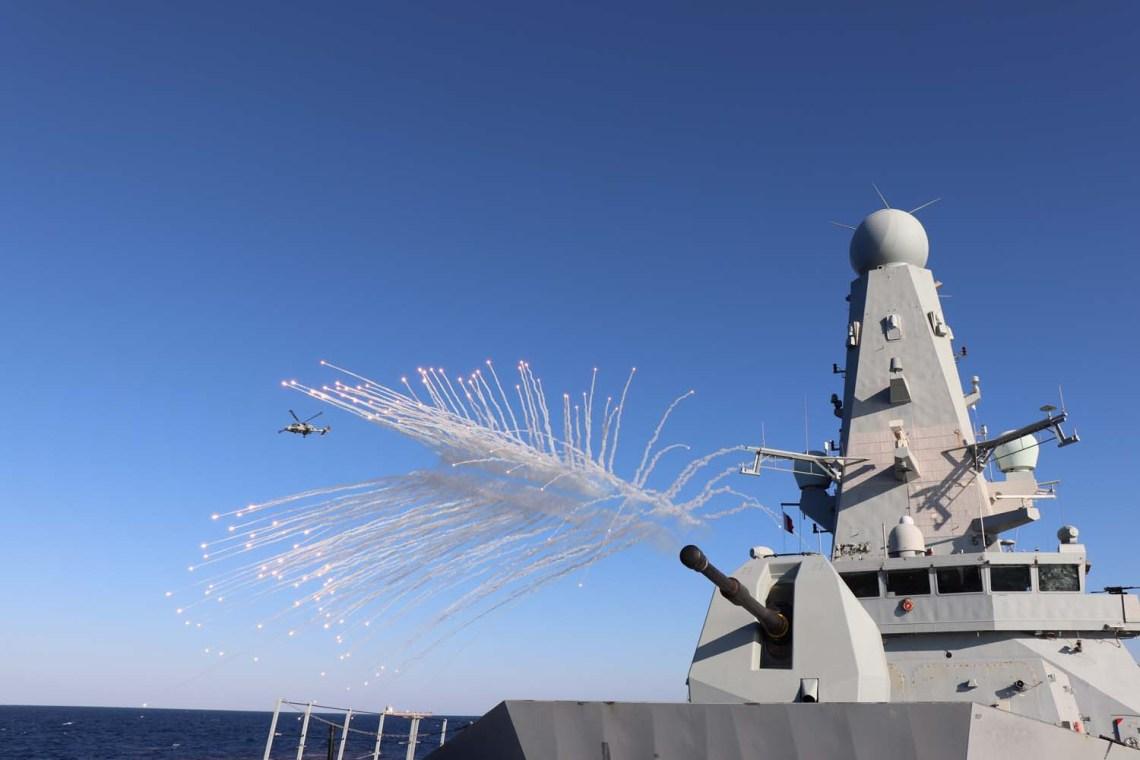 Royal Navy HMS Defender air-defence destroyers