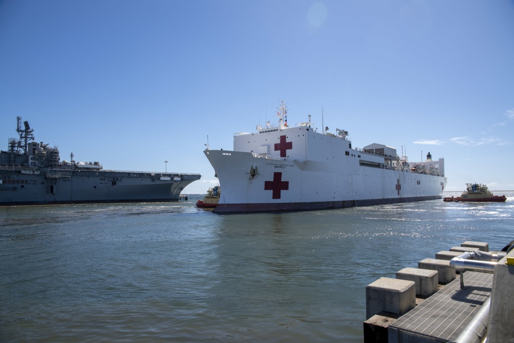 Hospital Ship USNS Mercy To Assist Los Angeles In COVID-19 Response
