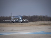NASA Super Guppy Arrives in Mansfield Lahm Air National Guard Base