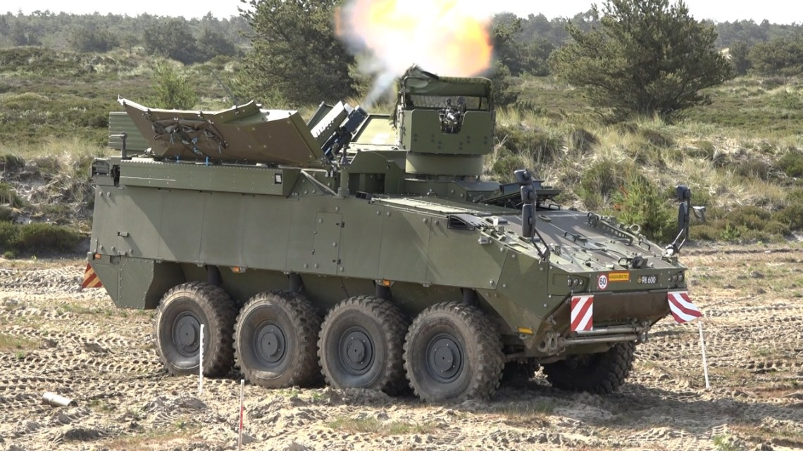 Royal Danish Army PIRANHA 5 Mortar Carrier with Elbit Systems CARDOM 10
