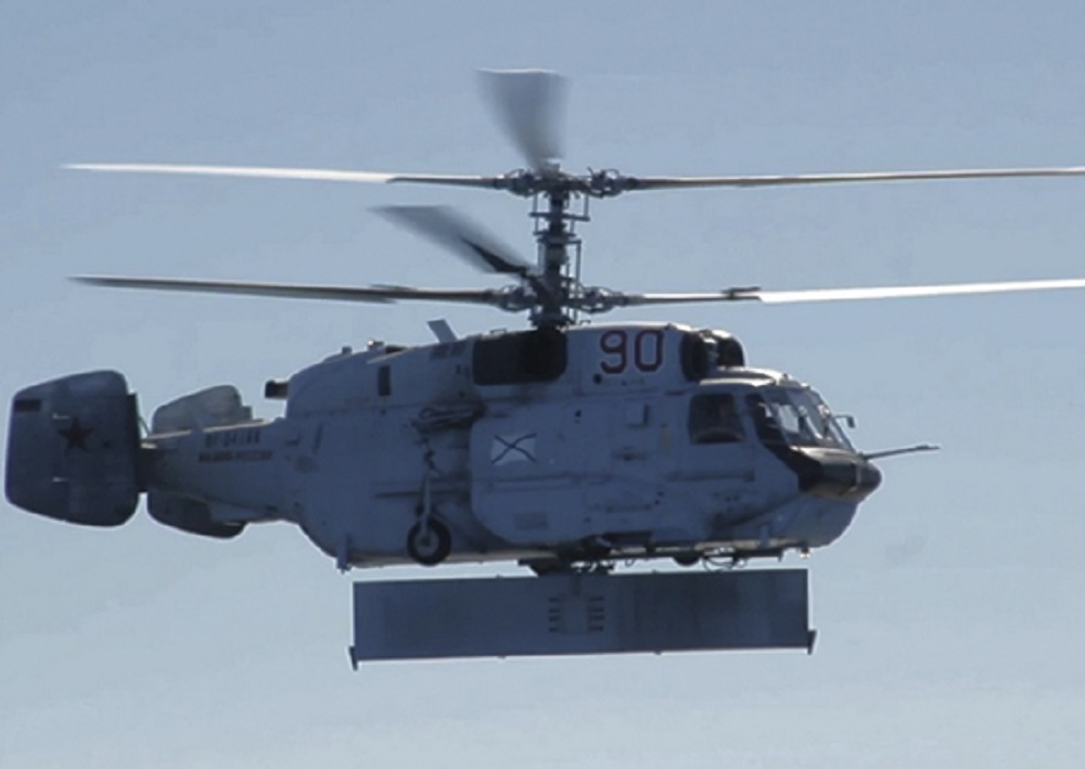 Russian Black Sea Fleet Kamov Ka-31R Helicopter Conducts Training Flight