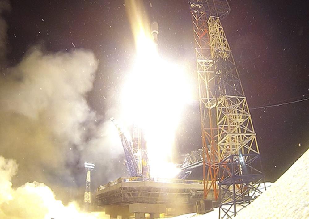 Russian Soyuz-2.1b Carrier Rocket Launches Glonass-M Satellite