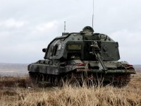 Russia's Western Military District Fire Msta-S Artillery Guns