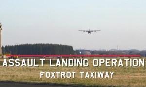 Yokota Performs First-Ever C-130J Assault Landing on Foxtrot Taxiway
