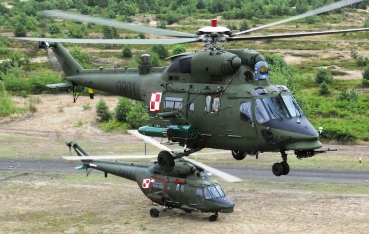 W-3PL Gluszec helicopters with Rafael optoelectronic heads