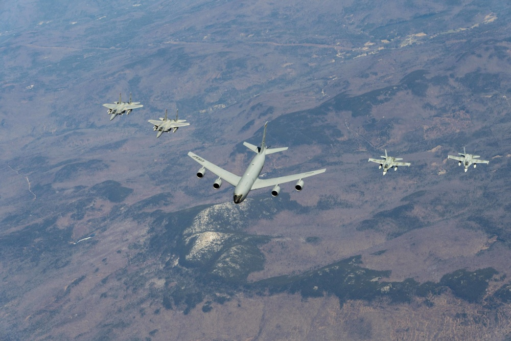 Royal Canadian Air Force and U.S. Air National Guard Conduct Bi-National Air Defense Exercise