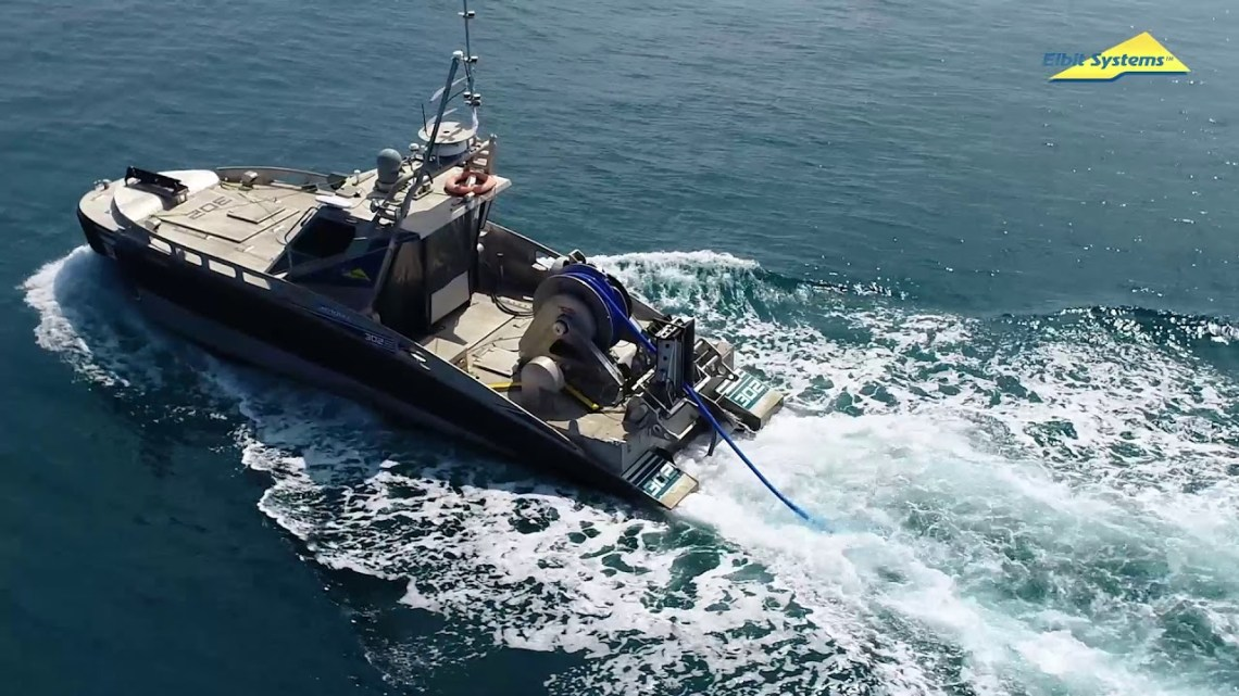 Elbit Integrates Active Towed Array Sonar on Seagull Unmanned Surface Vessel